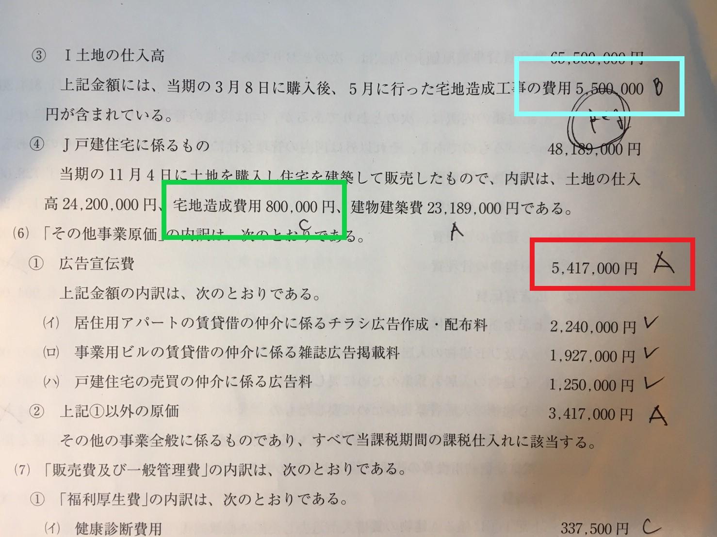 課税仕入れの仕入区分の記載例